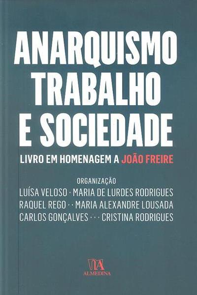 Capa do livro Anarquismo, Trabalho e Sociedade