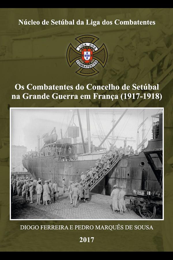 Capa do livro Combatentes do Concelho de Setúbal na Grande Guerra em França