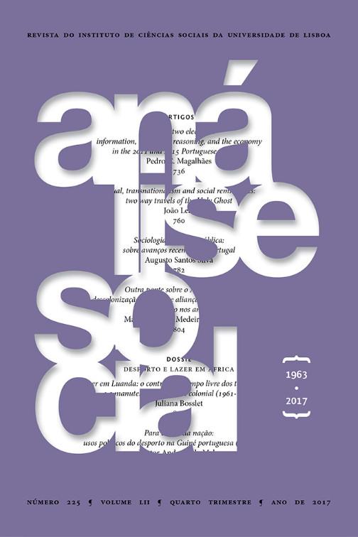 Capa do Nº 225 da Análise Social