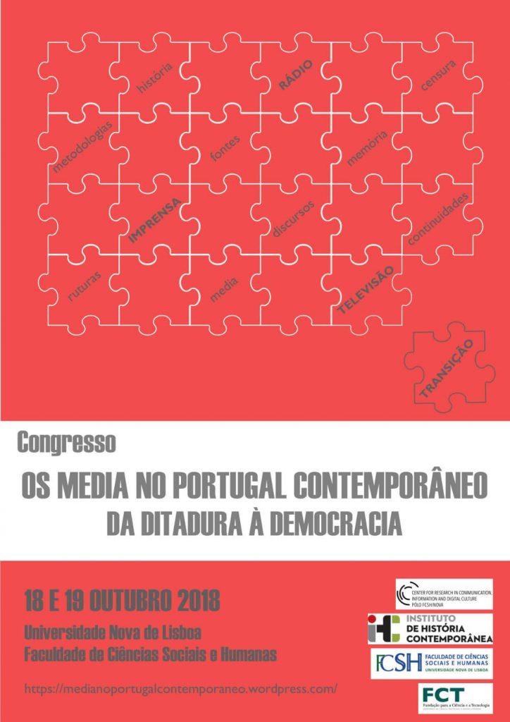 Cartaz do congresso Os media no Portugal Contemporâneo