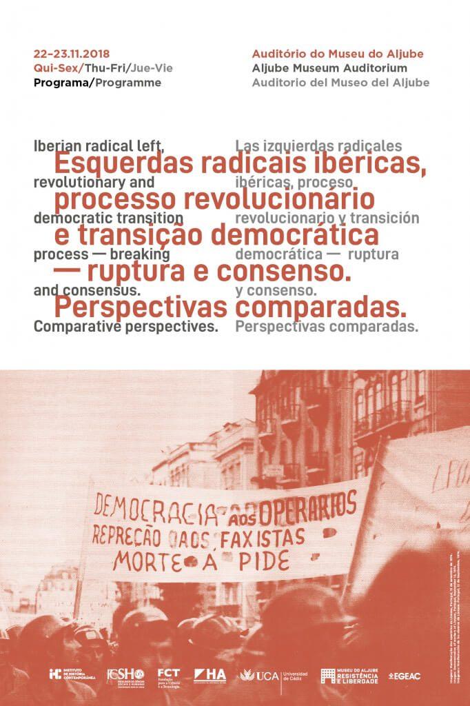 """Cartaz do congresso """"Esquerdas radicais ibéricas, processo revolucionário e transição democrática"""""""