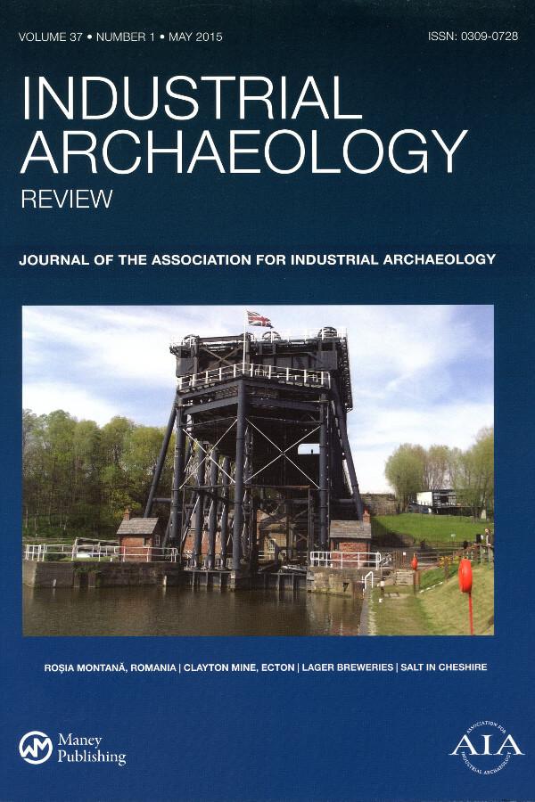 Capa do Número 1 do Volume 37 da revista Industrial Archaeology Review (2015)