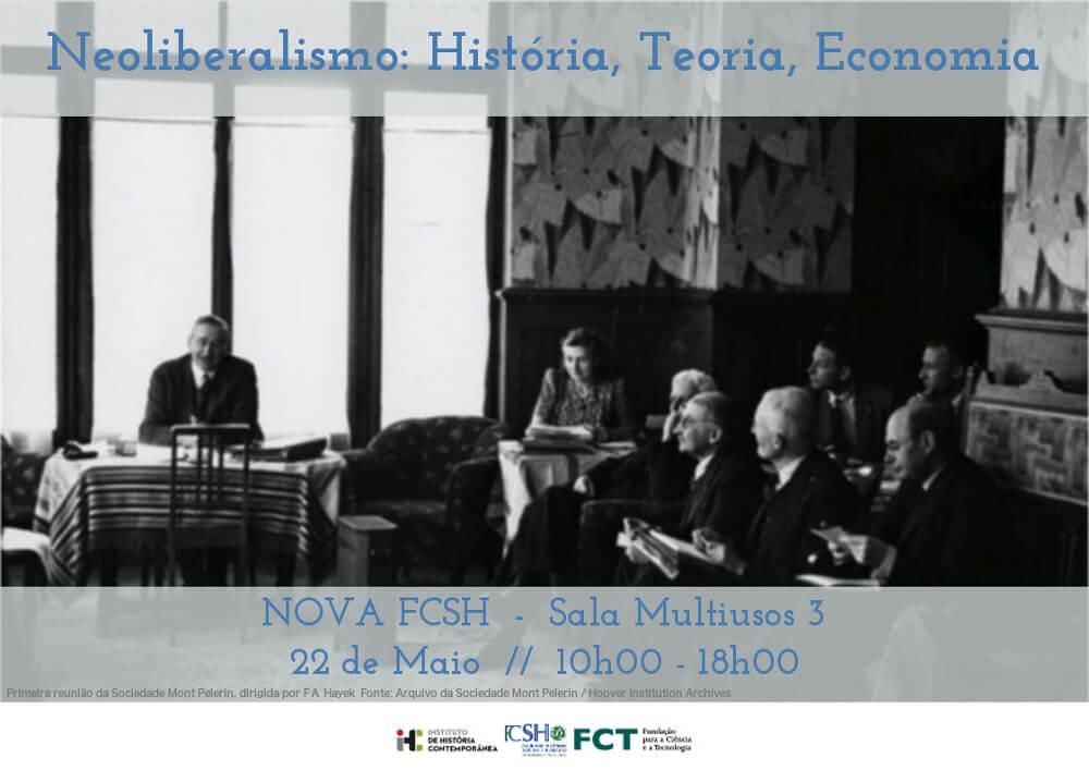 """Cartaz do seminário """"Neoliberalismo: História, Teoria, Economia"""""""