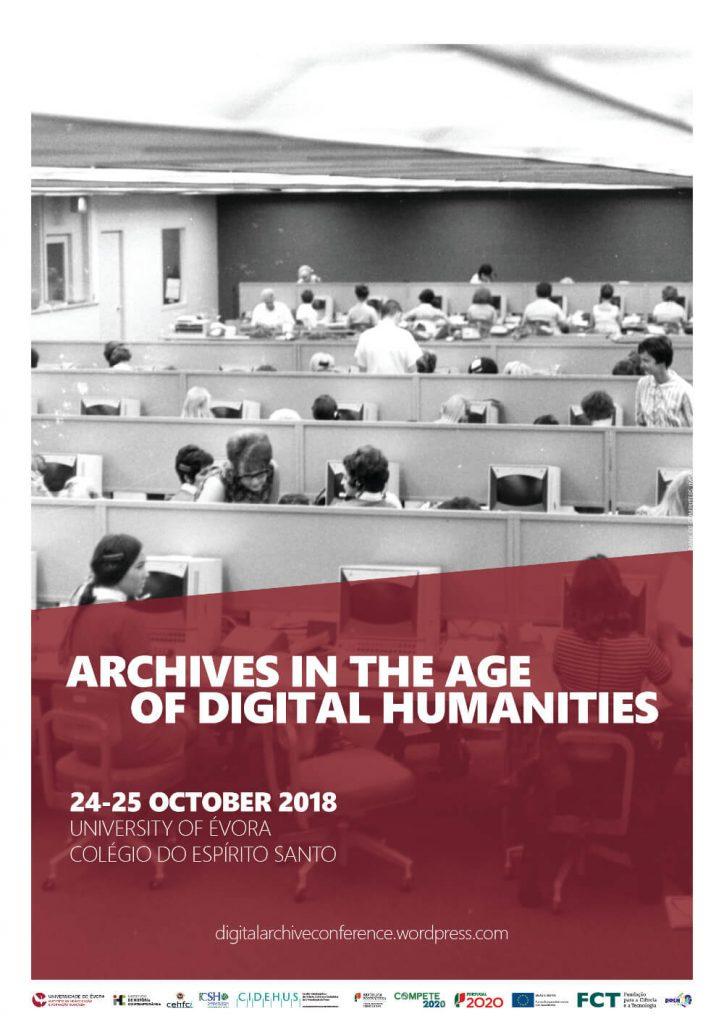 "Cartaz da conferência ""Archives in the Age of Digital Humanities"""