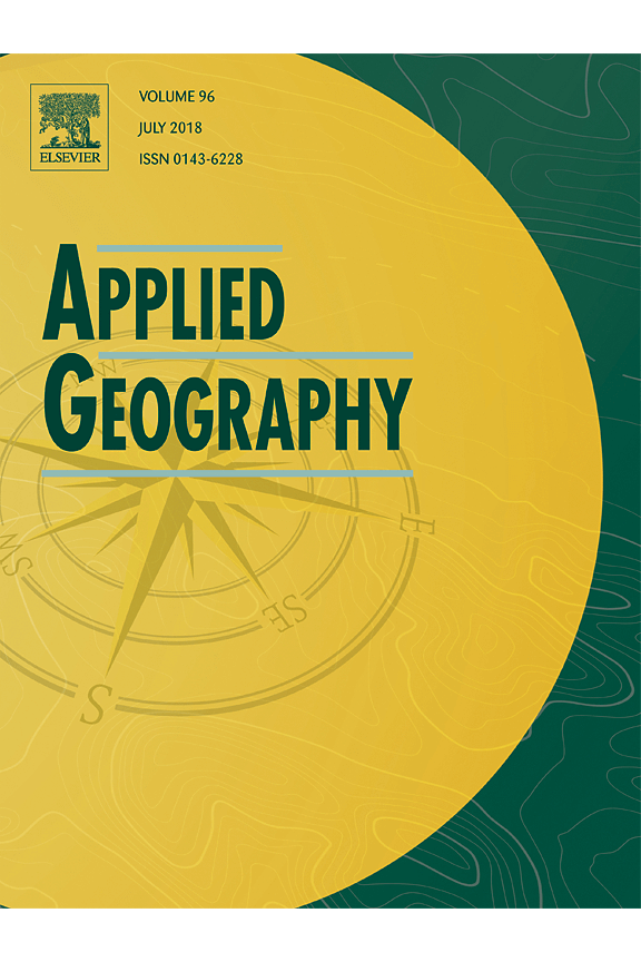 Capa da revista Applied Geography