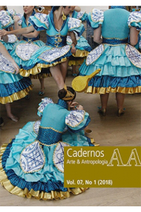 Capa do Número 1 do Volume 7 da revista Cadernos de Arte e Antropologia