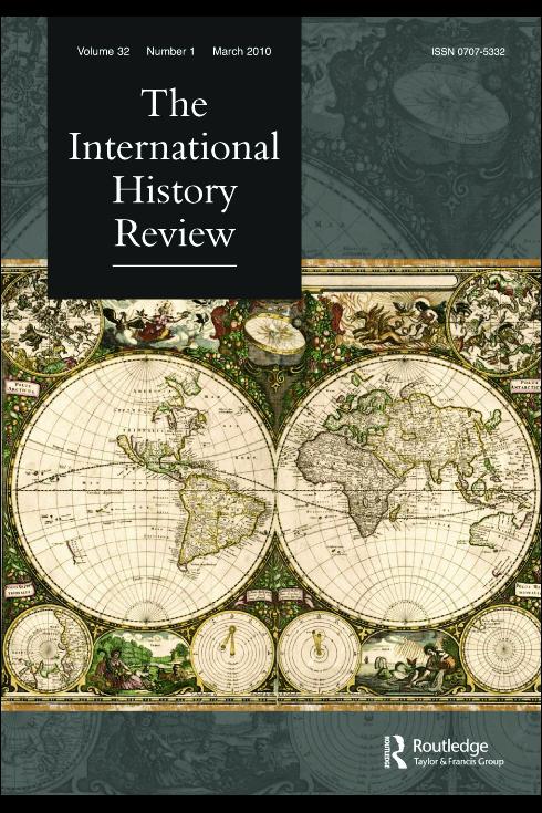 Capa da revista International History Review