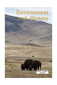 Capa do volume 22 da revista Environment and History