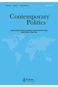 Capa da revista Contemporary Politics