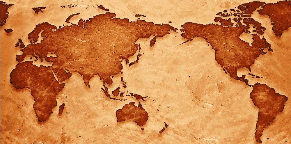 Mapa mundi - Imagem alusiva à conferência internacional