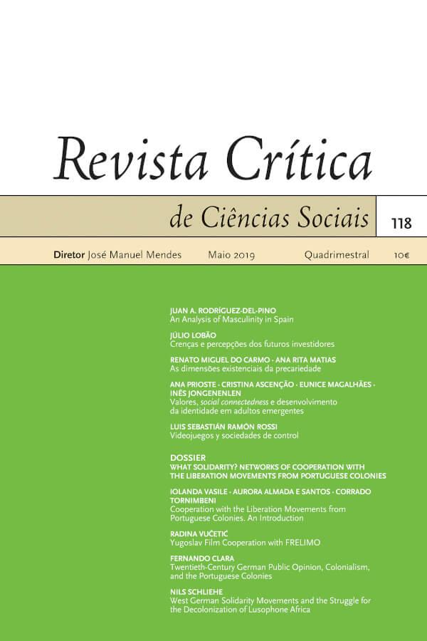 Capa do número 118 da Revista Crítica de Ciências Sociais