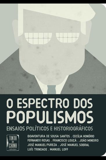 """Capa do livro """"O Espectro dos Populismos"""""""