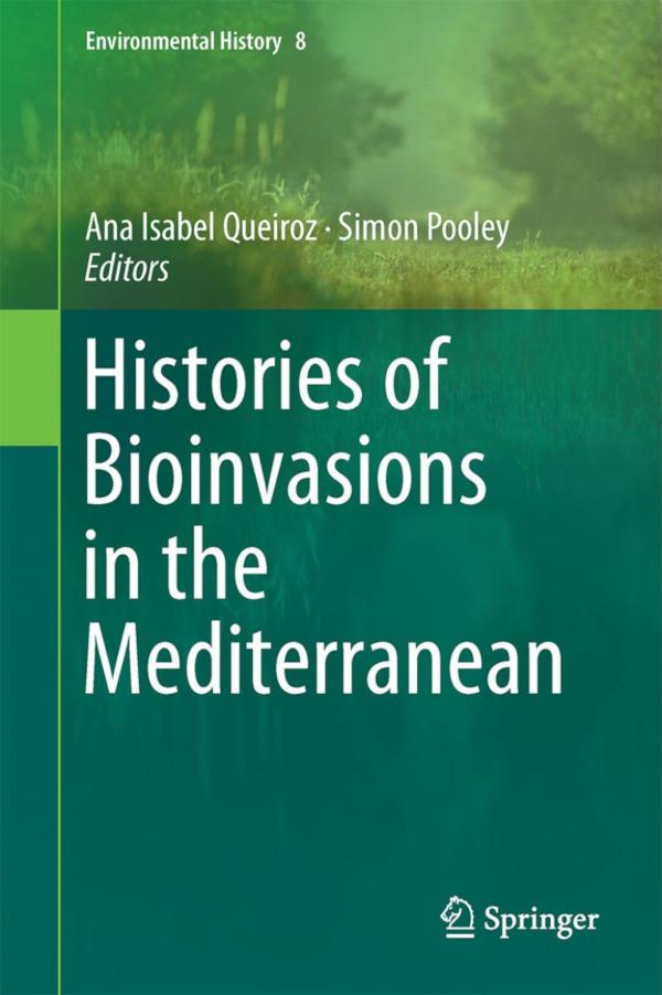"Capa do livro ""Histories of Bioinvasions in the Mediterranean"""