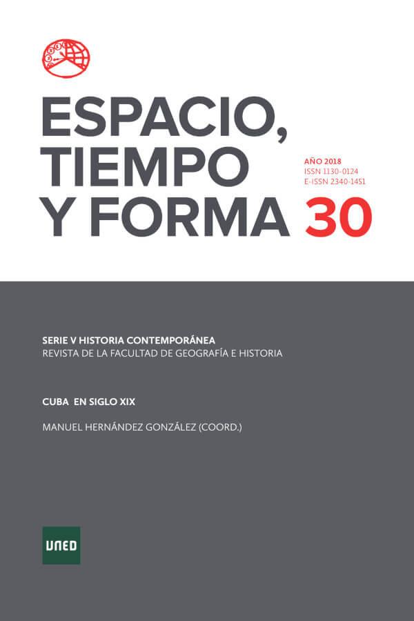 Capa do número 30 da revista Espacio, Tiempo y Forma