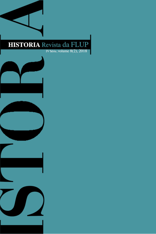 Capa do segundo número do oitavo voluma da revista História - Revista da FLUP