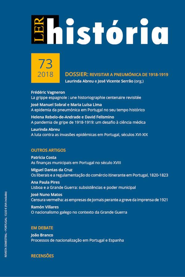 Capa do número 73 da revista Ler História