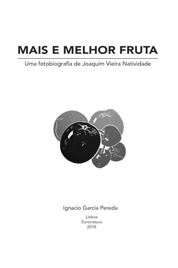 Capa do livro Mais e Melhor Fruta, de Ignacio García-Pereda