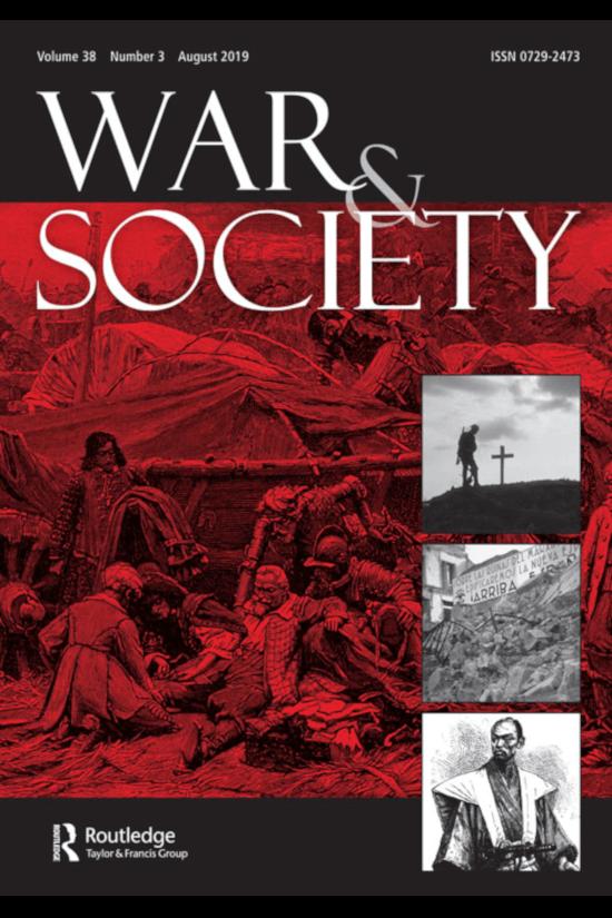 Capa do número 3 do volume 38 da revista War & Society
