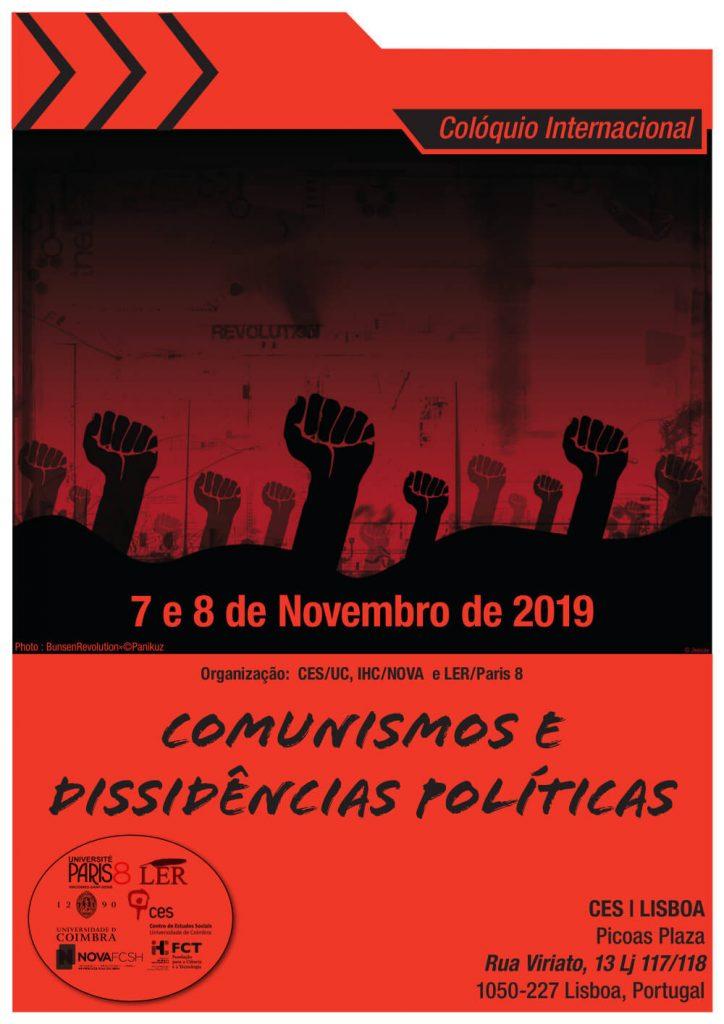 """Cartaz do colóquio """"Comunismos e dissidências políticas"""""""