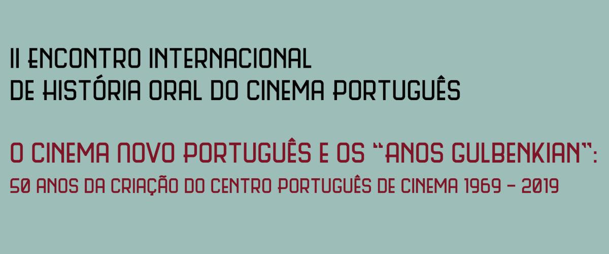 Detalhe do cartaz do II Encontro Internacional de História Oral do Cinema Português