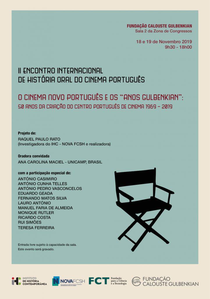 Cartaz do II Encontro Internacional de História Oral do Cinema Português