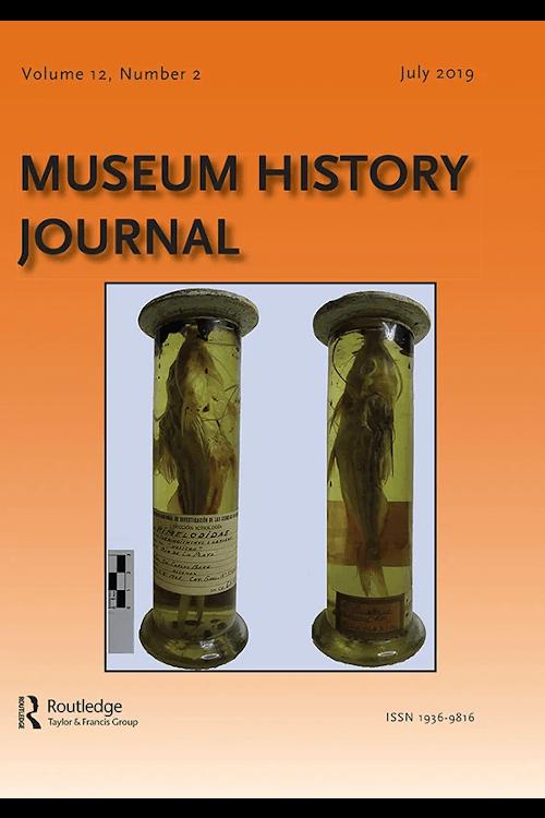 Capa do volume 12 da revista Museum History Journal