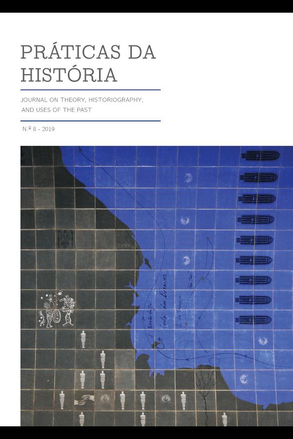 Capa do oitavo número da revista Práticas da História