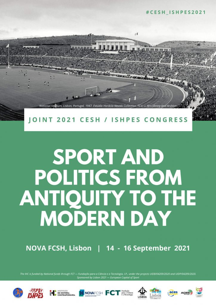 """Poster of the congress """"Sport and Politics from Antiquity to the Modern Day"""""""