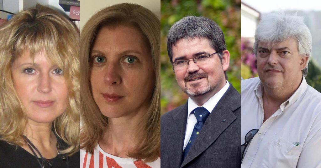 Fotografias de Ewa Domanska, Melanie Torrent, Stefan Berger e Xosé Manoel Núñez Seixas, os novos membros da CEPAC do IHC