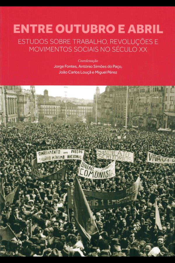 """Capa do livro """"Entre Outubro e Abril"""""""