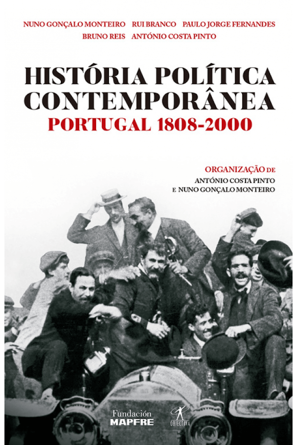 "Capa do livro ""História política contemporânea"", organizado por António Costa Pinto e Nuno Gonçalo Monteiro"