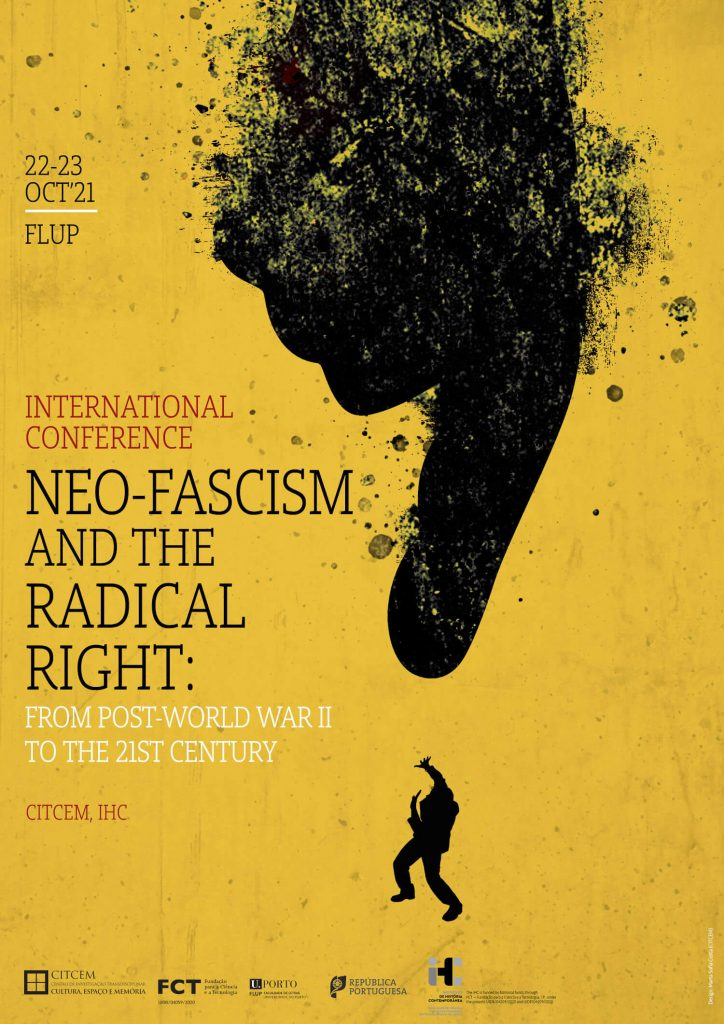 """Poster for the conference """"Neo-fascism and the radical right: from post-World War II to the 21st century"""""""
