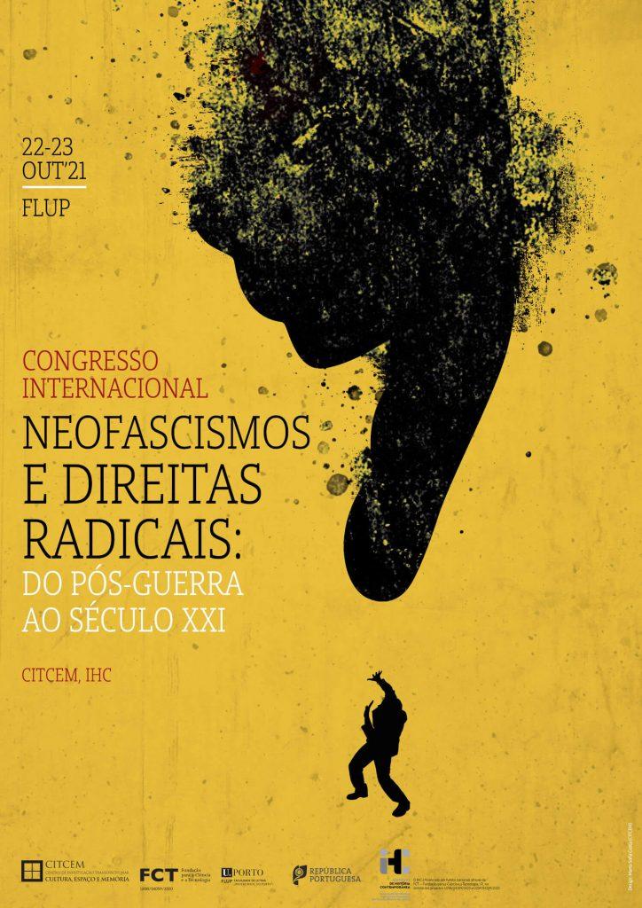 """Cartaz do congresso """"Neofascismos e direitas radicais: do pós-Guerra ao século XXI"""""""