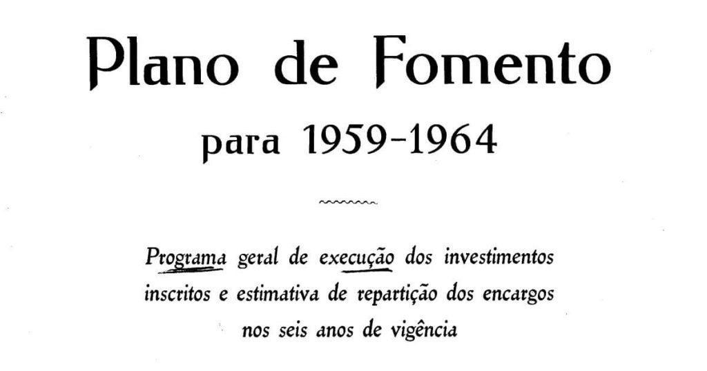 Capa do Plano de Fomento para 1959-1964