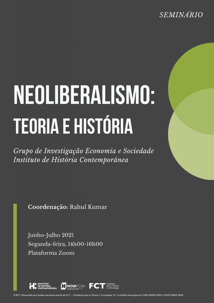 """Cartaz do seminário """"Neoliberalismo: Teoria e História"""""""