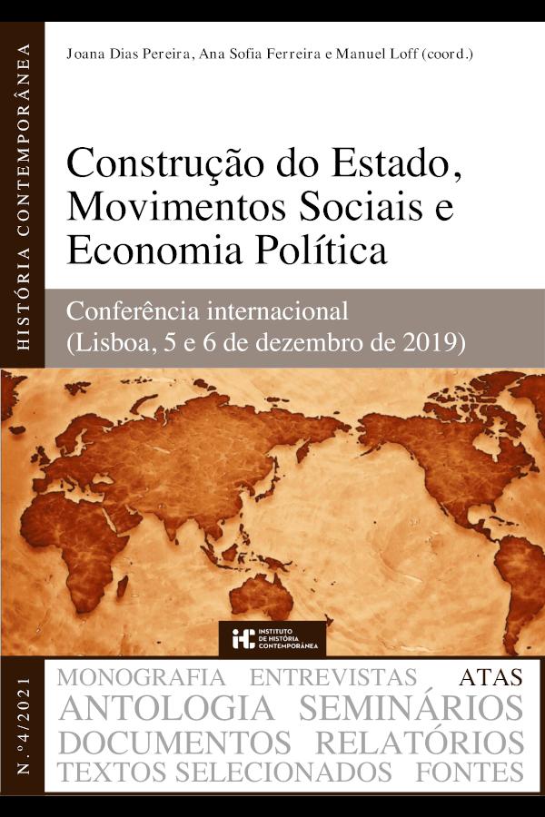 """Capa do livro """"Construção do Estado, Movimentos Sociais e Economia Política"""", coordenado por Joana Dias Pereira, Ana Sofia Ferreira e Manuel Loff"""