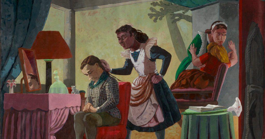 """Quadro """"The Maids"""", de Paula Rêgo (1987)"""
