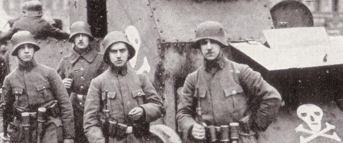 Fotografia dos Freikorps em Berlin, circa 1919