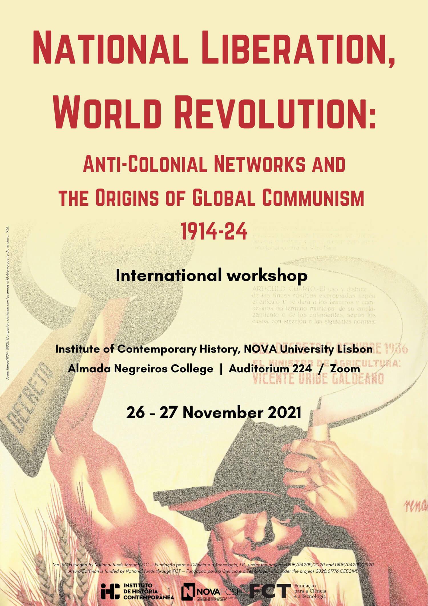 "Poster for the workshop ""National Liberation, World Revolution"""