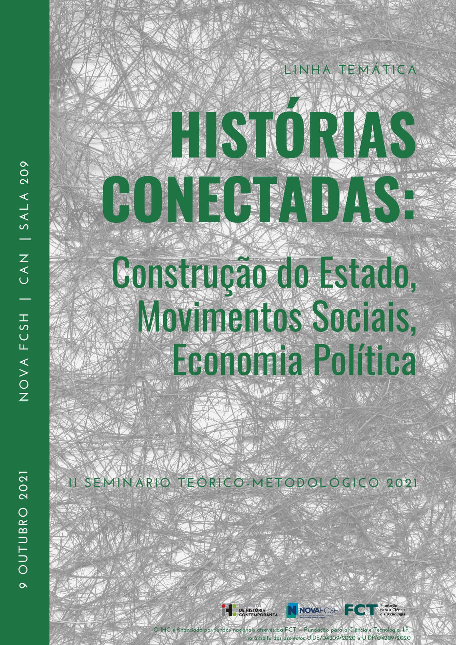 """Cartaz do seminário """"Histórias Conectadas"""""""