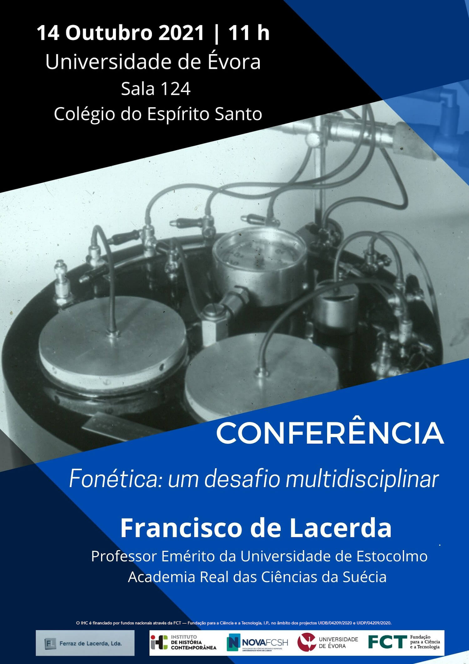 "Cartaz da conferência ""Fonética: Um desafio multidisciplinar"""