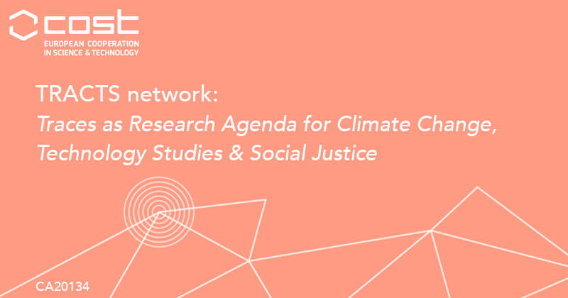 Imagem ilustrativa da rede TRACTS, Traces as Research Agenda for Climate Change, Technology Studies, and Social Justice.
