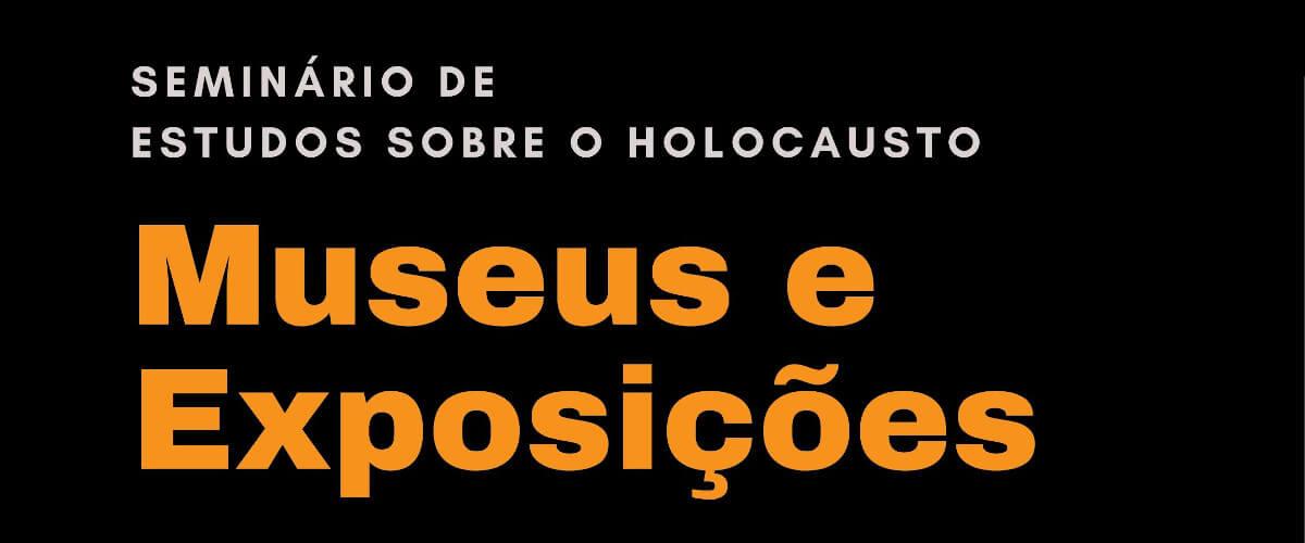 Detalhe do cartaz do seminário de estudos sobre o Holocausto com o título