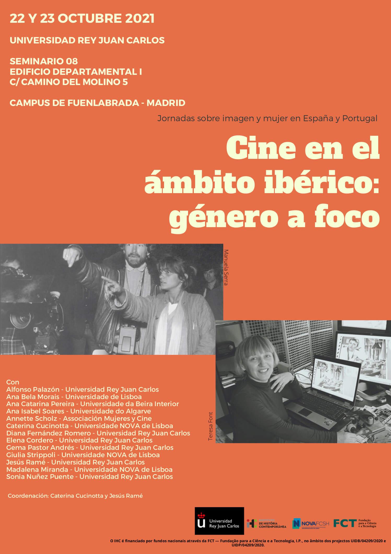 """Cartaz das jornadas """"Cine en el ámbito ibérico"""""""