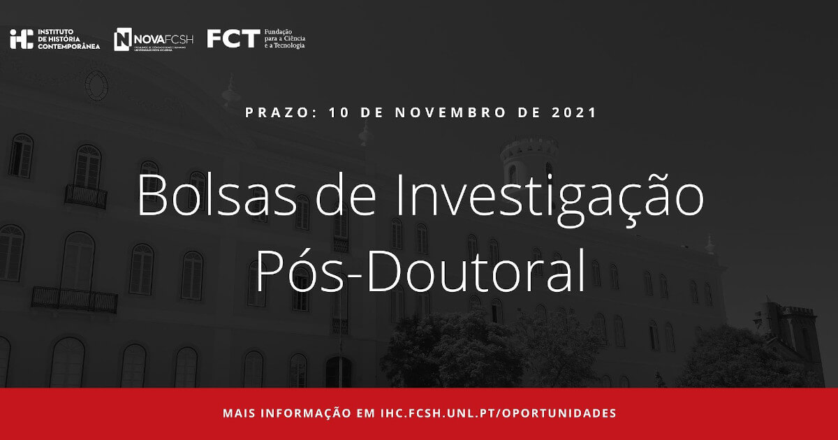 Imagem ilustrativa do concurso de Bolsas de Investigação Pós-Doutoral do IHC, com fotografia do Colégio Almada Negreiros